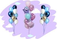 Фонтаны из воздушных шариков