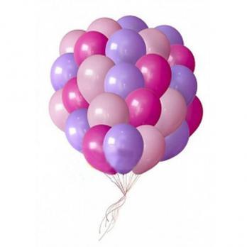 Шары латекс Фуксия, сиреневый, розовый