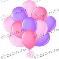 Шары латекс 35см. Фуксия, сиреневый, розовый