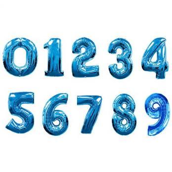 15 шаров с гелием + цифра
