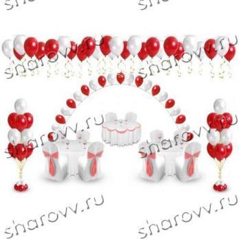 """Пакет оформление воздушными шарами """"Рубин"""""""