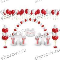Пакет оформление воздушными шарами Рубин