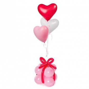 """Фонтан из шариков сердец """"С любовью"""""""