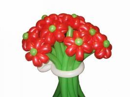 Цветы из шаров Букет №1