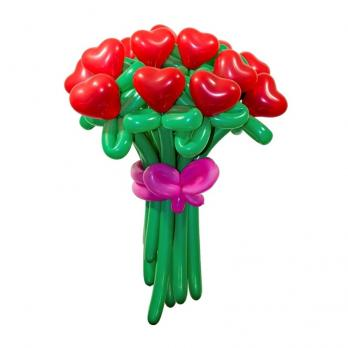 """Цветы из шаров """"Сердца"""""""