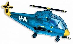 """Шар фигура фольга """"Вертолет"""""""