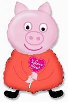 Шар фигура фольга Свинка Пепа
