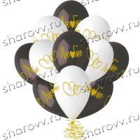 Воздушные шары с гелием Люблю, сердце