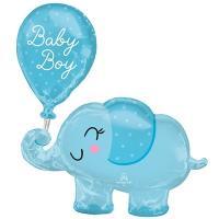 "Шарик фигура ""Слоник голубой BABY BOY"""