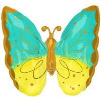 "Шар фигура ""Бабочка мятно-желтая"""