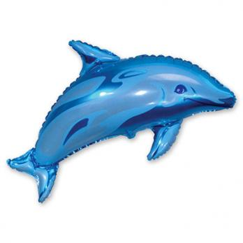 "Шар на палочке ""Дельфин голубой"""