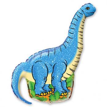 "Шар на палочке ""Динозавр голубой"""