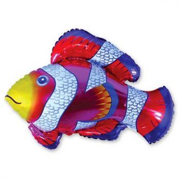 """Шарик на палочке """"Рыба пестрая красная"""""""