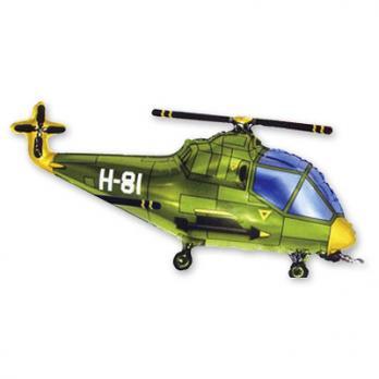 """Шар на палочке """"Вертолет зеленый"""""""