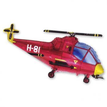 """Шарик на палочке """"Красный вертолет"""""""