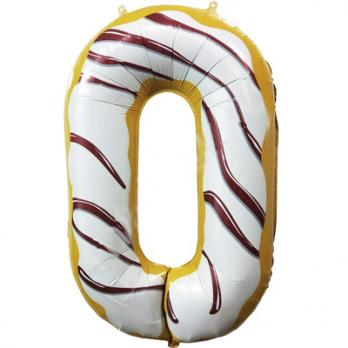 "Шар ""Цифра 0"" Пончик"
