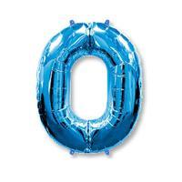Шар Цифра 0 Синий