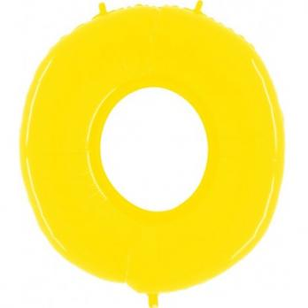 Цифра 0 Яркий Желтый