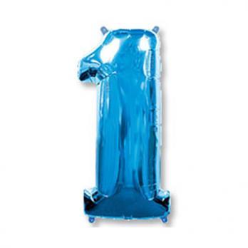 Шар Цифра 1 Синий