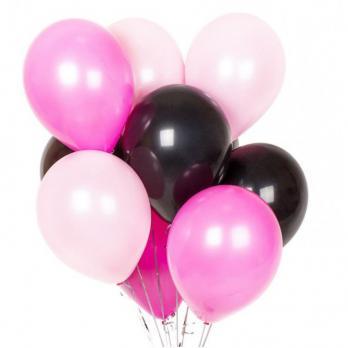 Воздушные шары Розовый фуксия черный