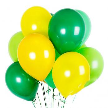 """Шары латекс """"Желтый, зеленый, лайм"""""""