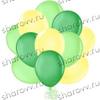 """Шары латекс 35см. """"Желтый, зеленый, лайм"""""""