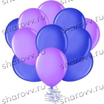 Шары латекс 35см. Синий, фиолетовый