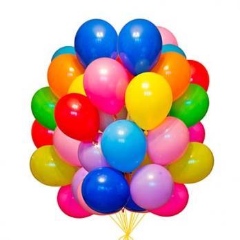 50 воздушных шаров с обработкой