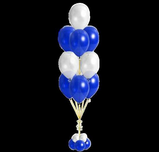 """Фонтан из шаров """"Белый, синий"""""""