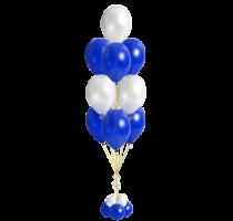 Фонтан из шаров Белый, синий