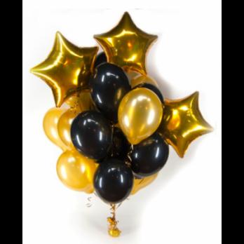 Облако из воздушных шаров Золото черный