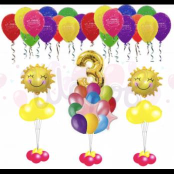 Пакет воздушных шариков Солнышко