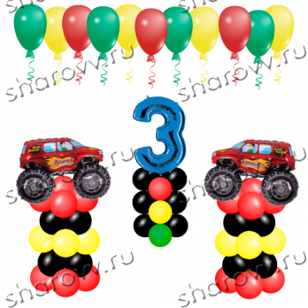 Пакет воздушных шаров Джипы