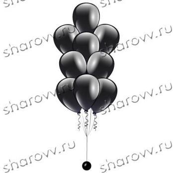 Фонтан из шаров Черный