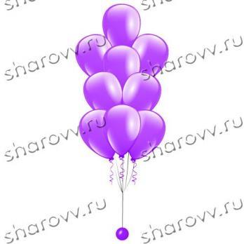 Фонтан из шаров Фиолетовый