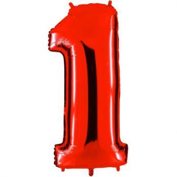 Шар Цифра 1 Красный