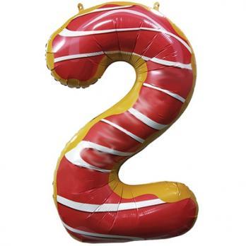Шар Цифра 2  Пончик
