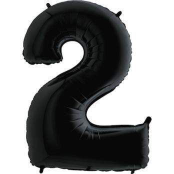 Шар Цифра 2 Черный
