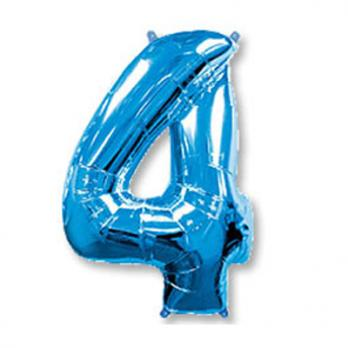 Шар Цифра 4 Синий