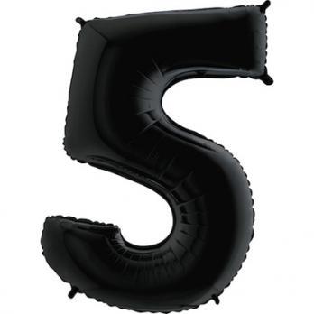 """Шар """"Цифра 5"""" Черный"""