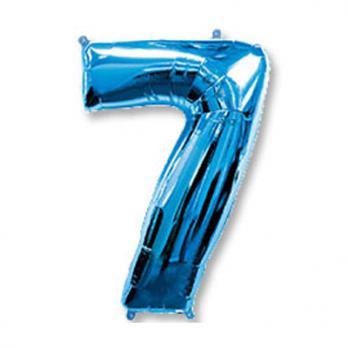 """Шар """"Цифра 7"""" Синий"""