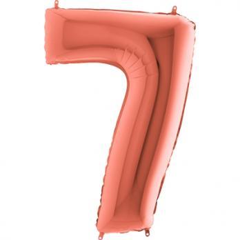 """Шар """"Цифра 7"""" Розовое золото"""