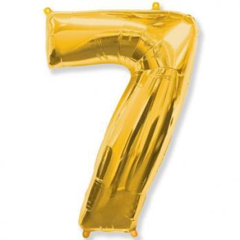 """Шар """"Цифра 7"""" Золото"""