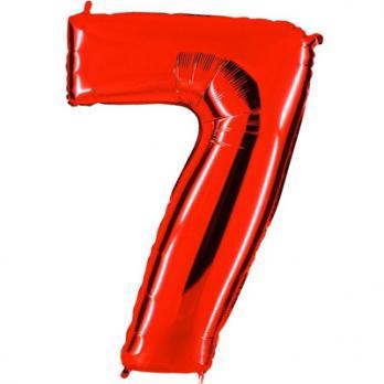 "Шар Цифра 7"" Красный"