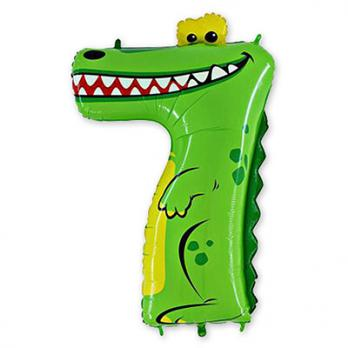 "Шар ""Цифра 7"" Крокодил"