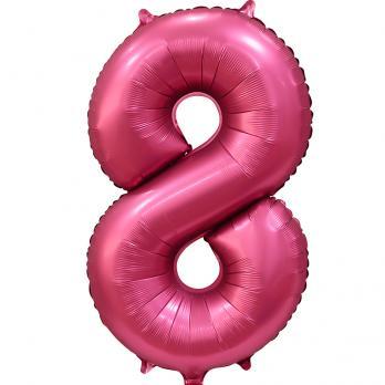 Цифра 8  Сатин бордовый