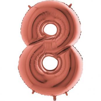 """Шар """"Цифра 8"""" Розовое золото"""