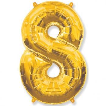 Шар Цифра 8 Золото