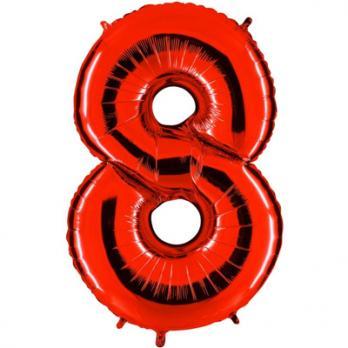 Шар Цифра 8 Красный