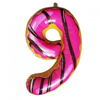 "Шар ""Цифра 9""  Пончик"